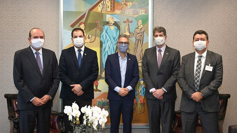 Governador Romeu Zema e Advogado-Geral do Estado visitam presidente do TJMG